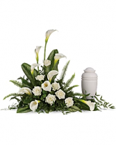 Stately Lilies Cremation Tribute Urn