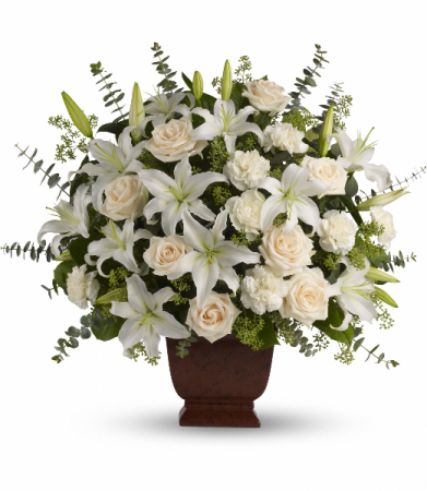 Loving Lilies and Roses Fresh Arrangement