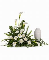 Stately Lilies Tribute Funeral Arrangement