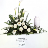 Stately Lillies Cremation Tribute