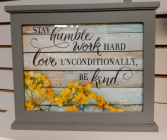 Stay Humble Light Box