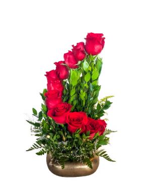 Step Up The Love Rose Arrangement  in Biloxi, MS | Rose's Florist