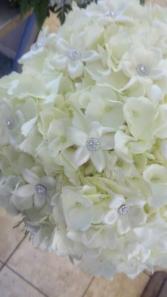 Stephanotis roses, bling  wedding bouquet