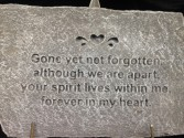 Stepping Stone: Gone Yet Not Forgotten Sympathy