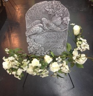 Memorial Stepping Stone Quote Will Vary - Call For Specific Quotes in Selma, NC | Selma Florist