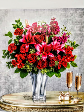Sterling love bouquet valentines