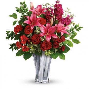 Sterling Love Bouquet Vase Arrangement