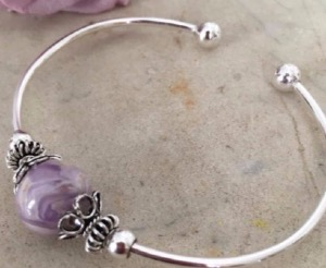 Sterling Silver Bangle Bracelet  in Wilton, NH | WORKS OF HEART FLOWERS