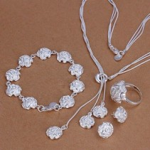 Sterling Silver Gift Set  Necklace, Ring and earrings, and bracelet