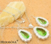 Sterling Silver PERIDOT Hermosa Jewelry Sets Sterling Silver PERIDOT Hermosa Jewelry Sets