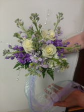 Stock and Roses Hand Tied Bouquet