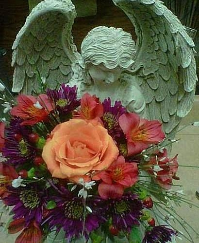 Angel Flower Arrangements For Funerals