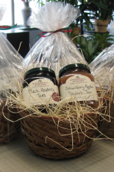 Stonewall Kitchen Jam Basket Strawberry Apple Rhubarb and Black Raspberry Jam