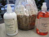 Stonewall Kitchen Hand Soap and Lotion Grapefruit Thyme Gift Basket