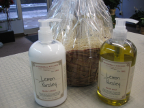 Stonewall Kitchen Hand Soap and Lotion Lemon Parsley Gift Basket