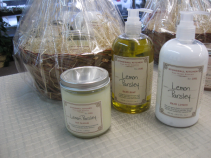 Stonewall Kitchen Hand Soap, Lotion and Candle Lemon Parsley Gift Basket