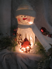 Stony Creek Snowman with Cardinal Winter Holidays