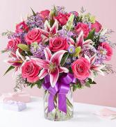 Straight From The Heart Vase Arrangement