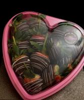 Strawberriy heart Chocolate covered strawberries