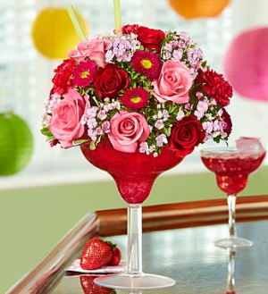 Strawberry  Margarita Floral Bouquet Specialty Arrangment in Longwood, FL | Novelties By Nadia Flowers & More