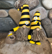 Stripe Hat Bee Gnome (lg & sm)