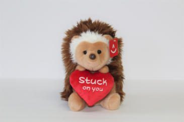 """Stuck on You"" Hedgehog  Stuffed Animal"