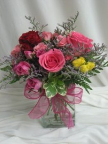 Stuck on You Vased Rose Arrangement