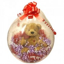 Stuffed Balloon  Gift Basket