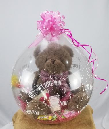 Stuffed Balloons Gift Basket