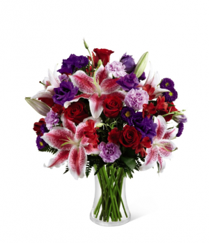 Stunning Blooms Bouquet Vased Arrangement in Saskatoon, SK | QUINN & KIM'S FLOWERS