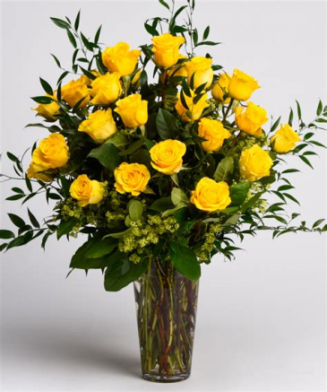 Stunner Two-Dozen Yellow Roses