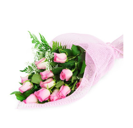 Stunning Long Stem Roses Wrapped