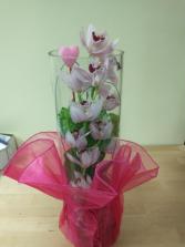stunning orchards in pink vase arrangement