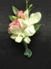 Stunning Orchid Boutonniere Prom or Wedding