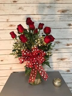 Traditional Red Rose Arrangement Valentines Day in Weymouth, MA | DIERSCH FLOWERS