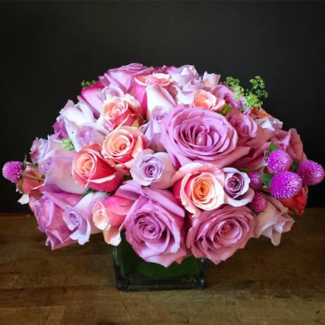 Stunning rose centerpiece  I love you to the moon and back