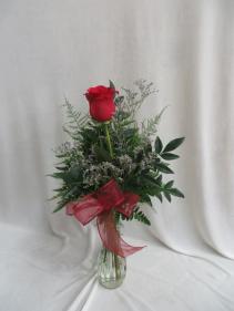Stunning Rose Fresh Rose Budvase