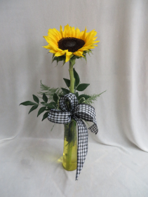 Stunning Sunflower Fresh Budvase Arrangement
