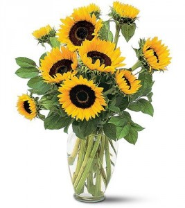 Stunning Sunflowers Vase
