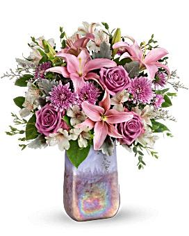 Stunning Swirls bouquet vase bouquet