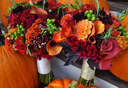 Stunning Vibrant Wedding Colors Brides Bouquet or Attendant Bouquets