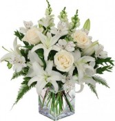 Stunning White Funeral Flowers
