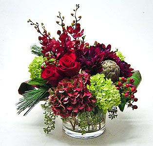 Stylish Heart Vased Arrangement
