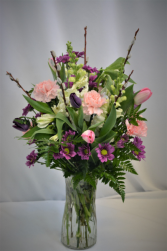 STYLISH SPRING FRESH FLOWERS VASED