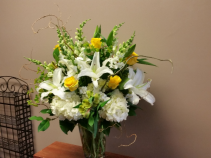 Subdued Garden Vase Arrangement