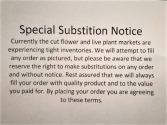 Substitution Notice