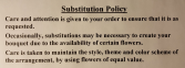Substitution Policy