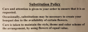 Substitution Policy  in Fredericton, NB | GROWER DIRECT FLOWERS LTD