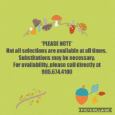 Substitutions Notice