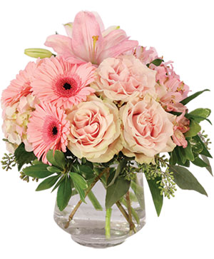 Subtle Pink Floral Design in Fitchburg, MA | CAULEY'S FLORIST & GARDEN CENTER